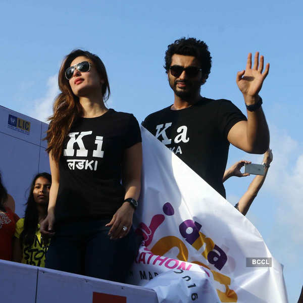 Kareena & Arjun at Women Marathon