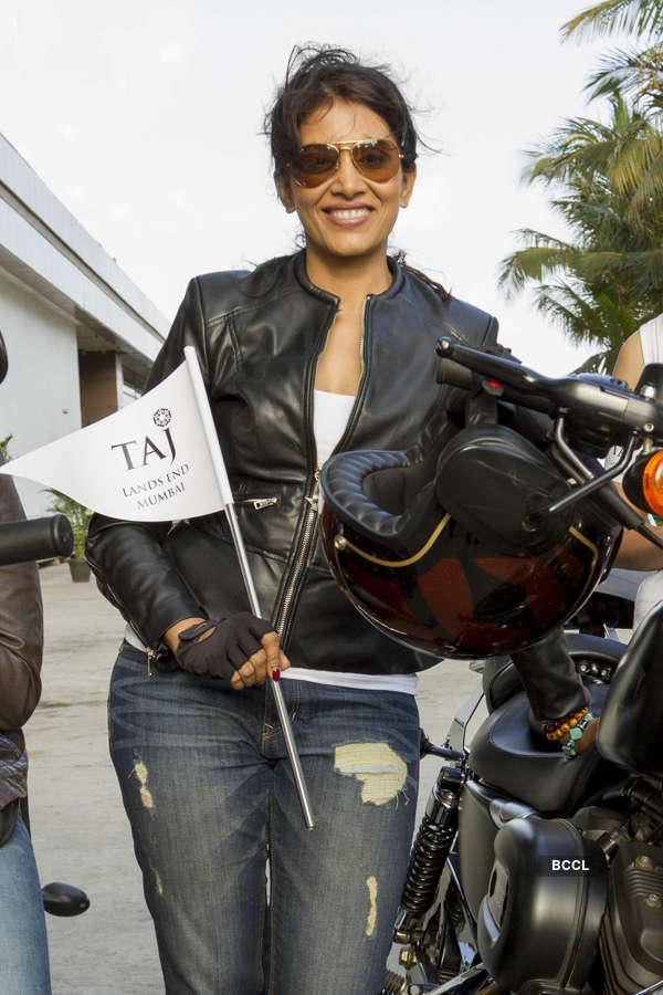 Sonali Kulkarni rides Harley