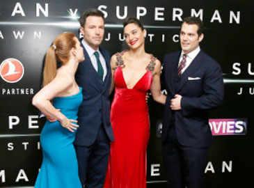 Gal Gadot, Amy Adams sizzle at 'Batman v Superman' London premiere