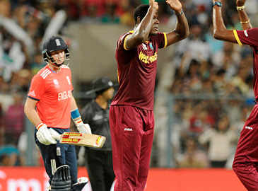 Buttler caught by Dwayne Bravo off Brathwaite