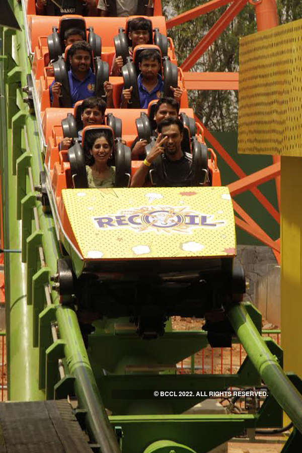 Fun ride in rollercoaster