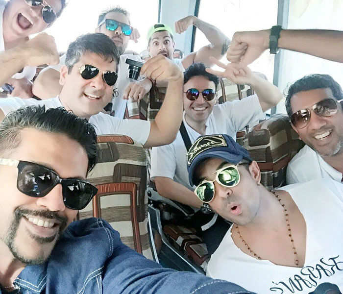 Rocky S shared photos of Karan's bachelors' party