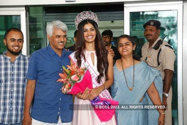 Miss India 2016 1st runner - up Sushruthi Krishna's homecoming