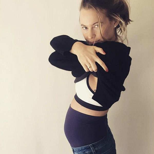 Namibian model Behati Prinsloo shows off her baby bump