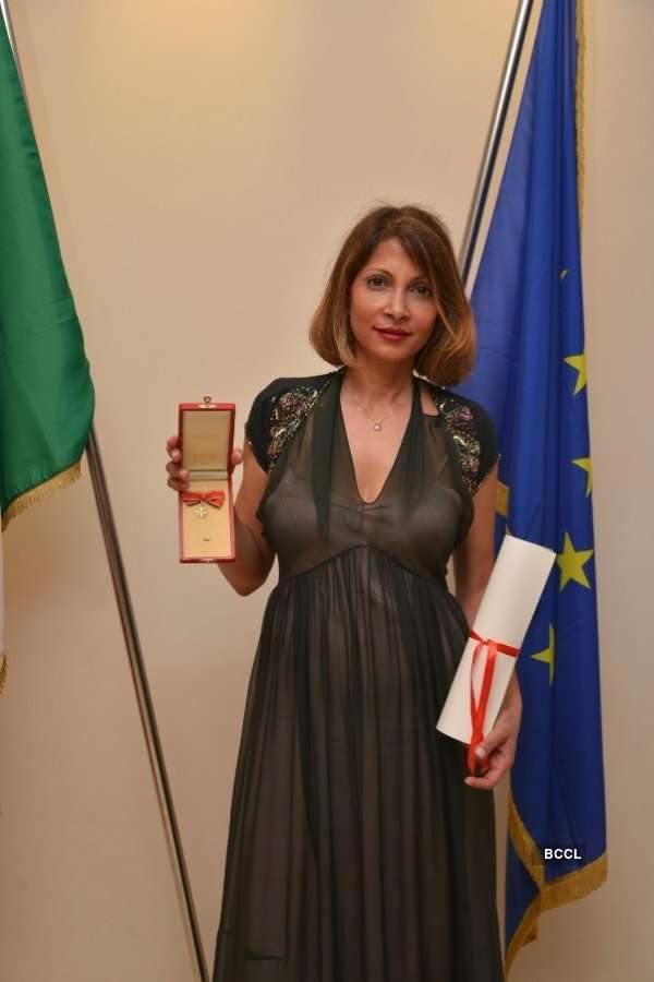 Sanchita Ajjampur Knighted by the Government of Italy