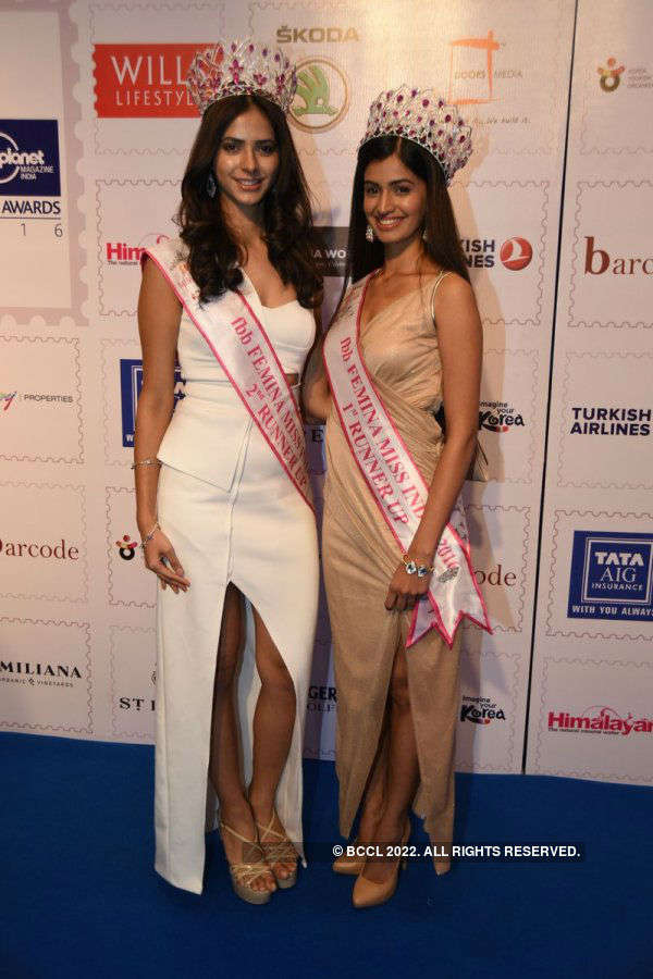 Miss India 2016 winners at Lonely Planet Awards