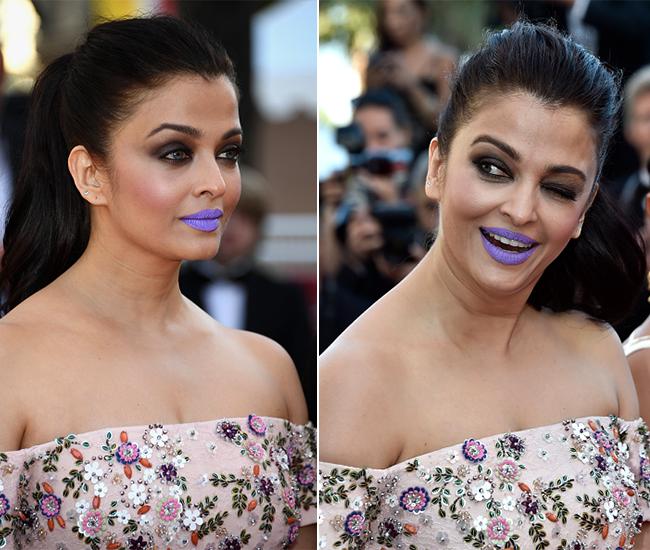 Aishwarya Rai wore a purple lipstick. Let's debate - Times ...