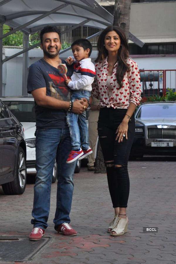 Celebs @ Shilpa's son's b'day
