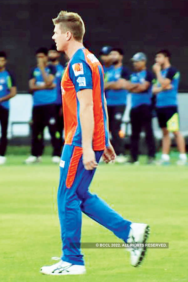 Gujarat Lions practice session