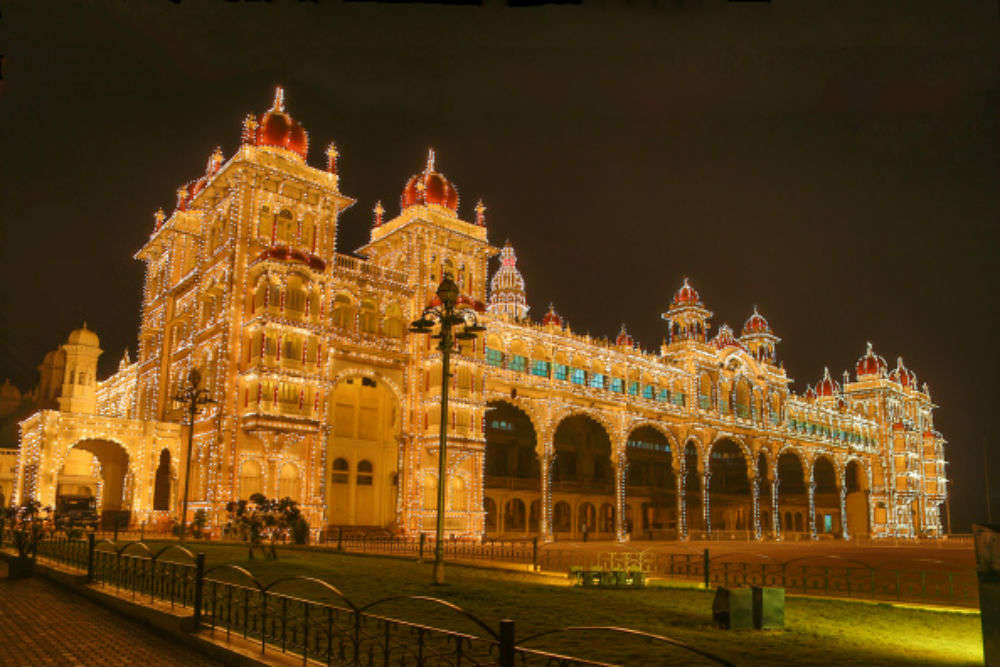Mysore by night
