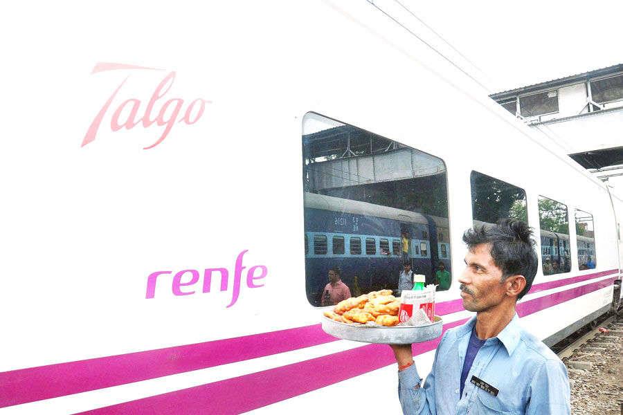 High-speed Spanish Talgo trial run