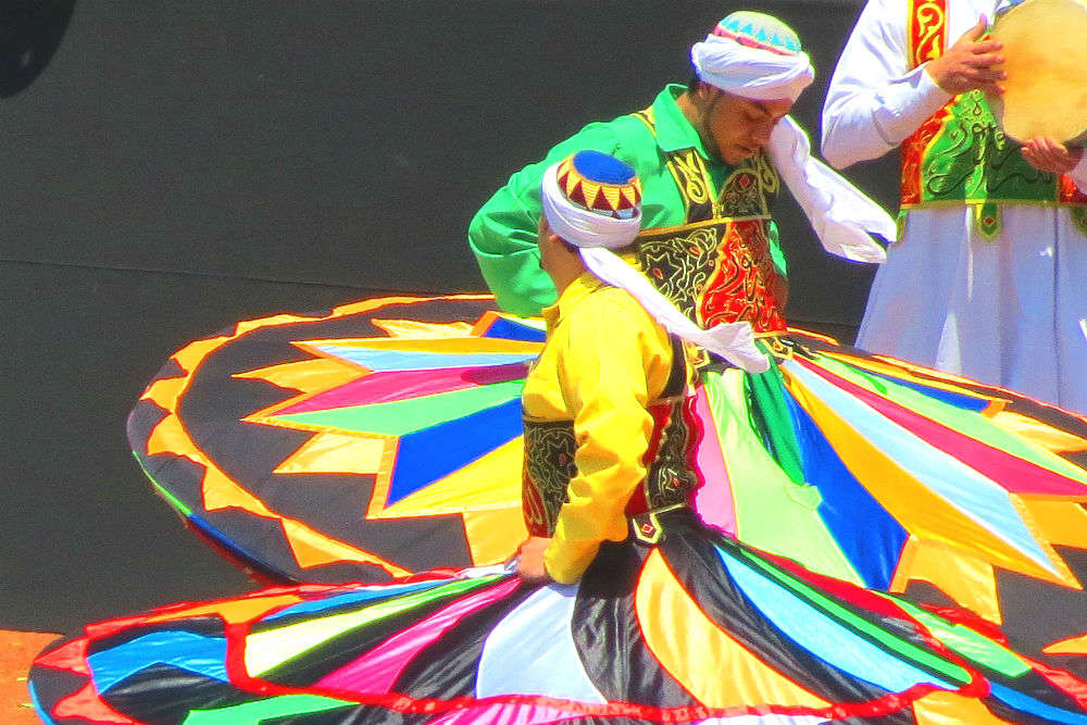Witness whirling sufi dervishes