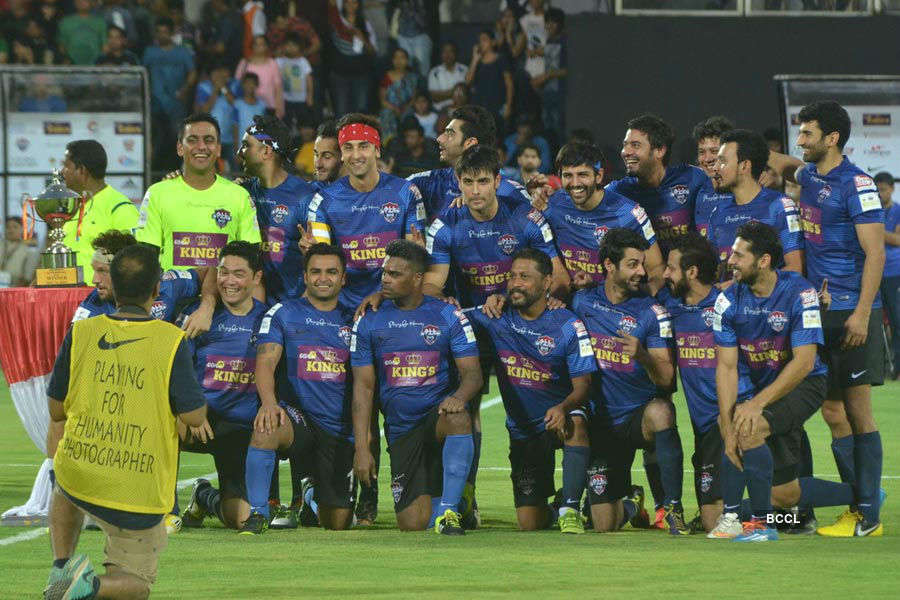 Stars at celebrity football match