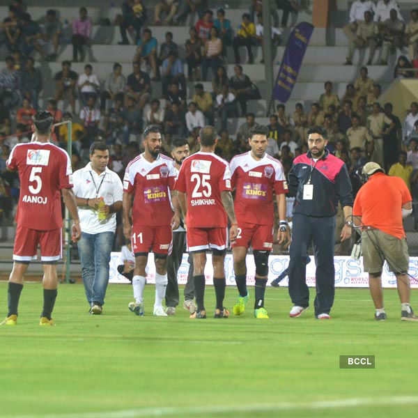 Stars at celebrity football match