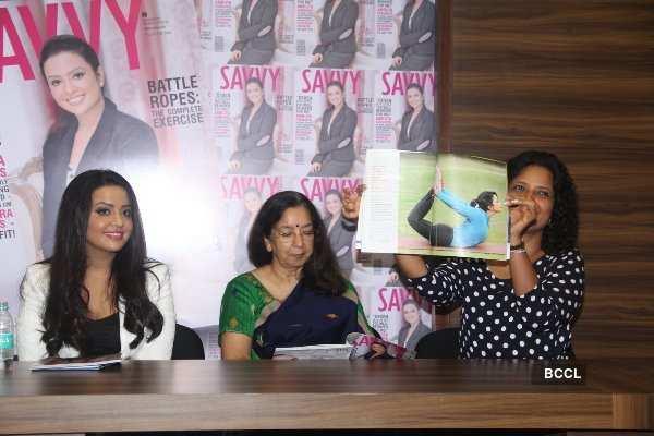 Amruta Fadnavis at 32nd Anniversary of 'SAVVY'