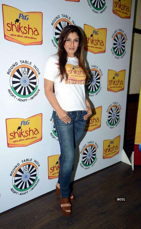 Raveena Tandon promotes P&G Shiksha