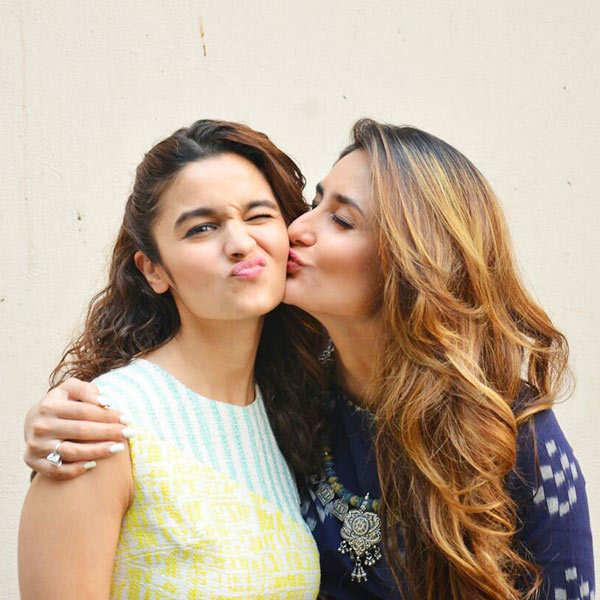 Alia Bhatt gets a peck on her cheeks