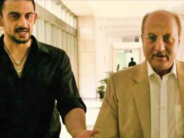 Arunoday Singh and Anupam Kher in a still from 'Buddha In A Traffic Jam'
