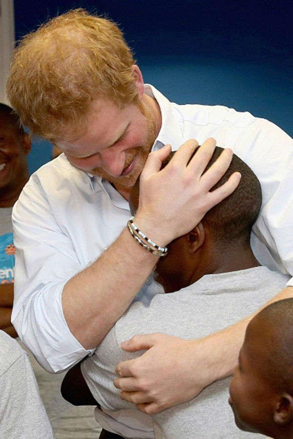 Prince Harry meets Lesotho choir