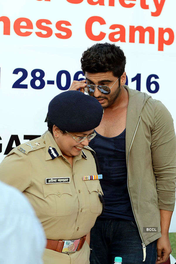 Arjun campaigns for road safety