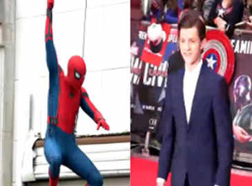 Tom Holland shoots for 'Spider-Man Homecoming'