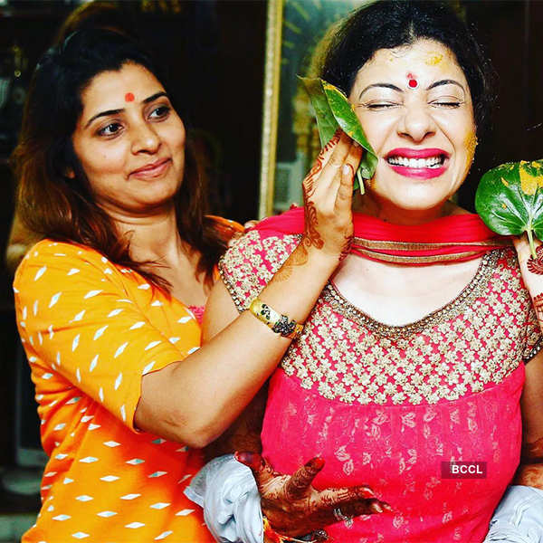 Sambhavna Seth's haldi ceremony