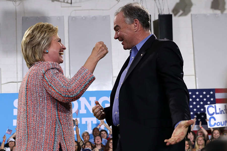 Hillary Clinton campaigns with Tim Kaine