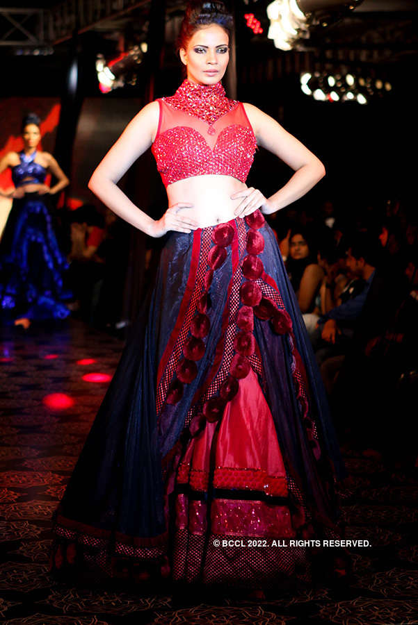 Amy walks the ramp
