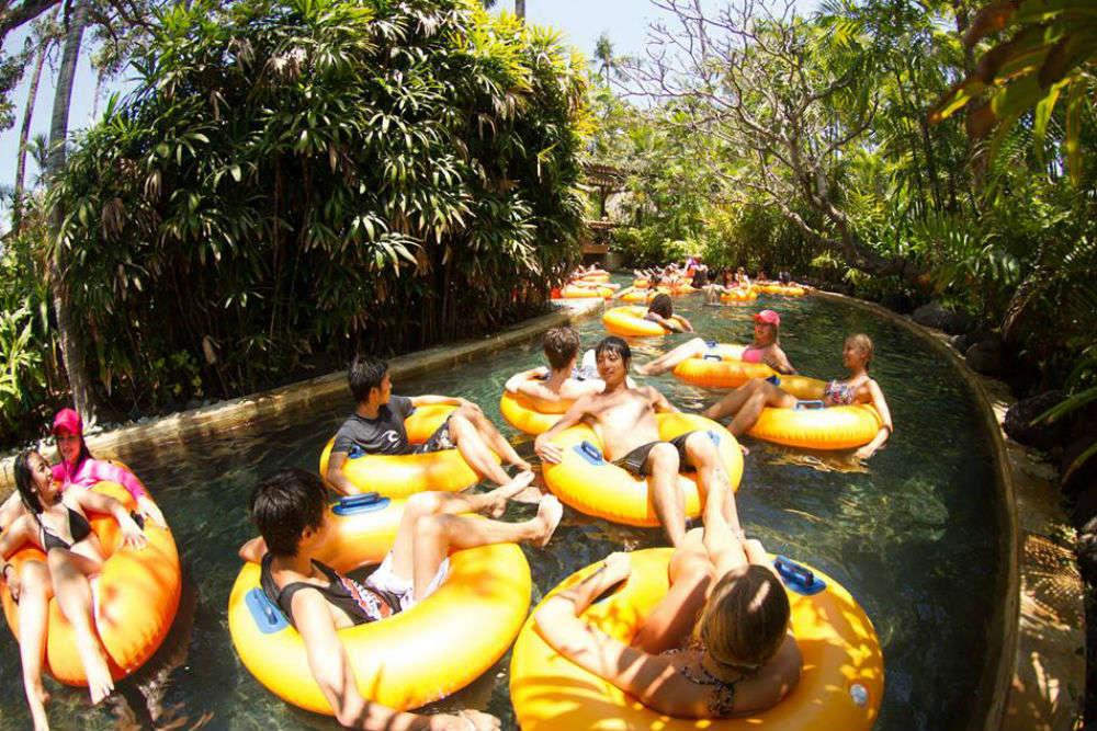 Splash around at Waterbom Park