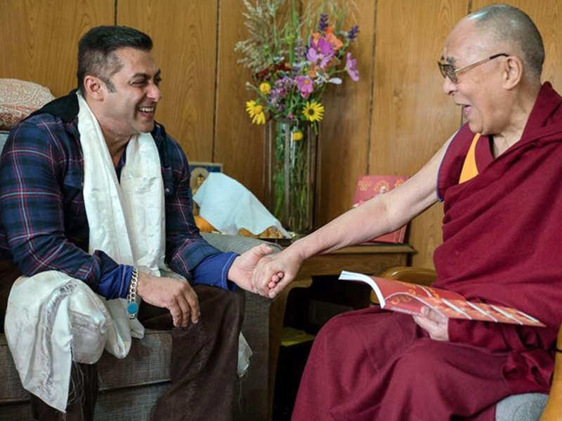 Salman Khan and Dalai Lama.