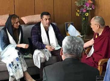 Exclusive: Salman Khan and Iulia Vantur visit Dalai Lama together!