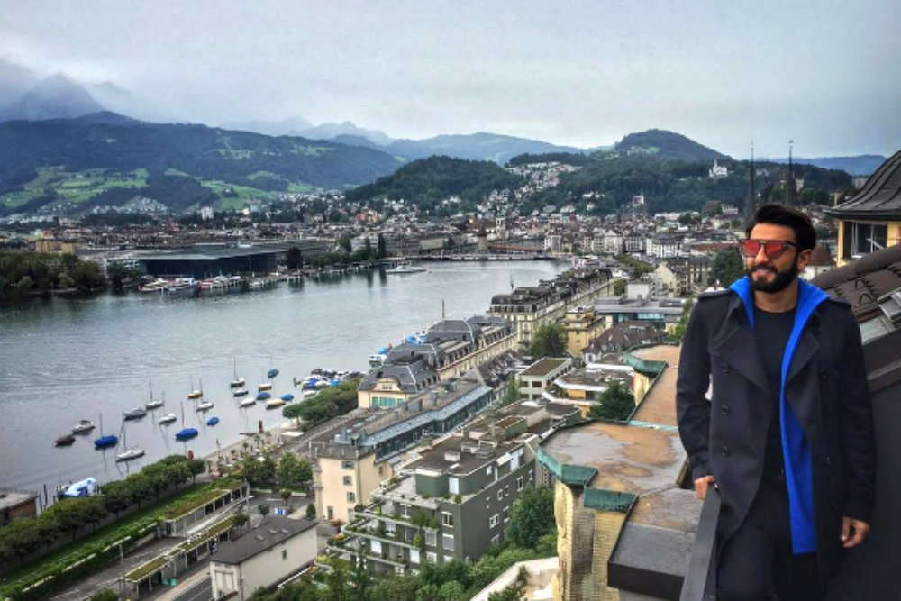Pictures Of Ranveer Singh | Ranveer Singh's Switzerland Trip In 8
