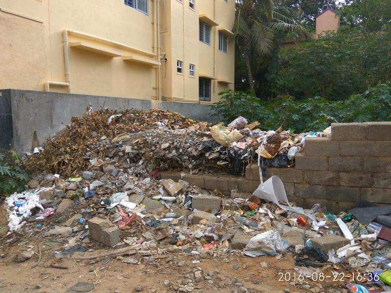 Udupi Restaurant Aecs Layout : Plot turns into garbage dump in aecs layout times of india