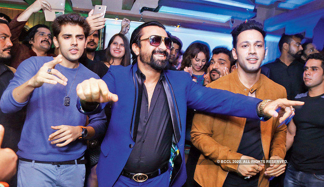 Mika Singh performs in the city