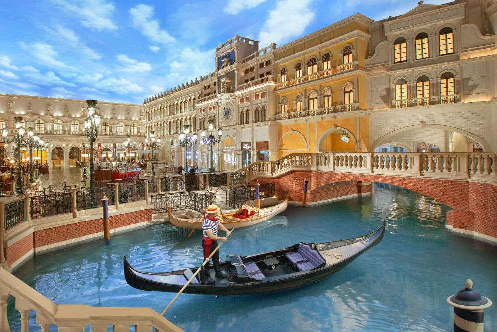 Gondola Ride at the Venetian Hotel