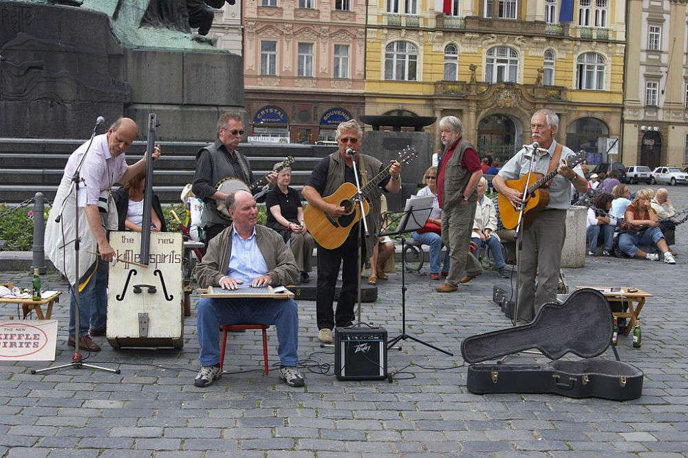 The local folk band