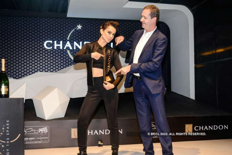 Unveiling of Chandon X McLaren Honda installation