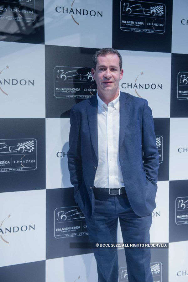 Unveiling of Chandon X McLaren Honda installation