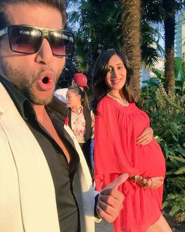 Karanvir Bohra with wife Teejay