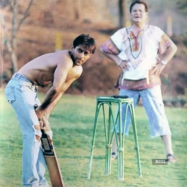 Salman Khan playing cricket