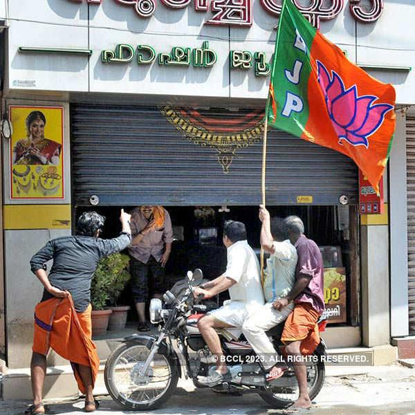 BJP protest turns violent in Kerala