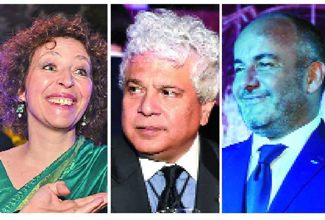 (L-R) Gruson Francoise, Suhel Seth and Pierre Behnam, president, Indo-French Chamber of Commerce and Industry (IFCCI)