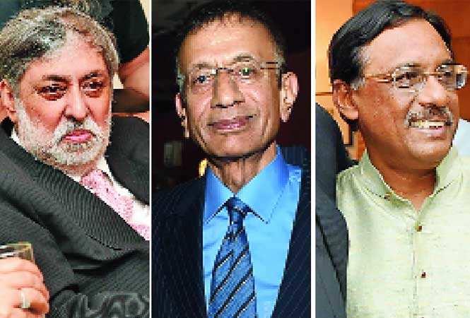 (L-R) Ramesh Sharma, VN Dalmia and Pavan K Varma (BCCL)