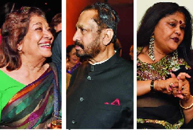 (L-R) Aruna Vasudev, Suresh Kalmadi and Uma Gajapathi Raju (BCCL)