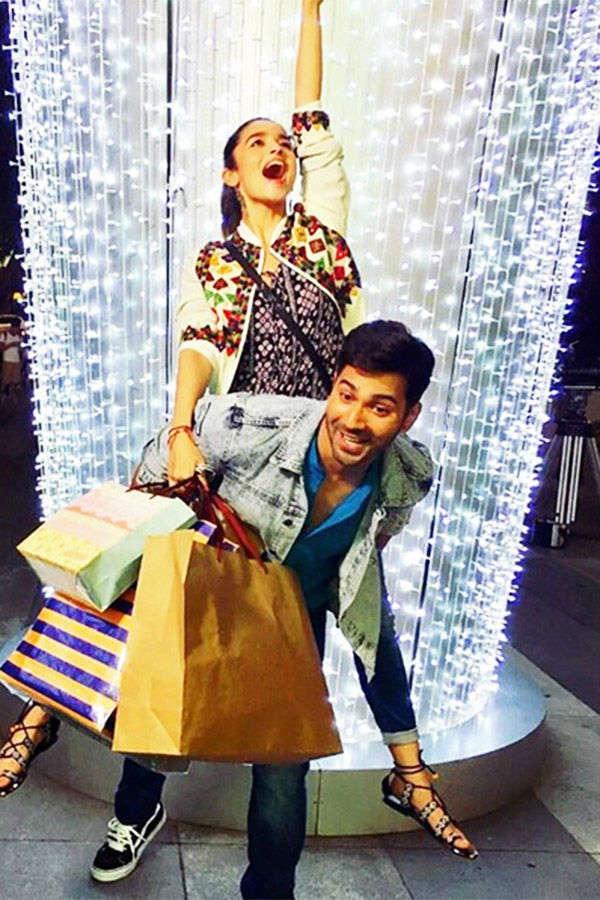 arun Dhawan takes co-actor Alia Bhatt for shopping