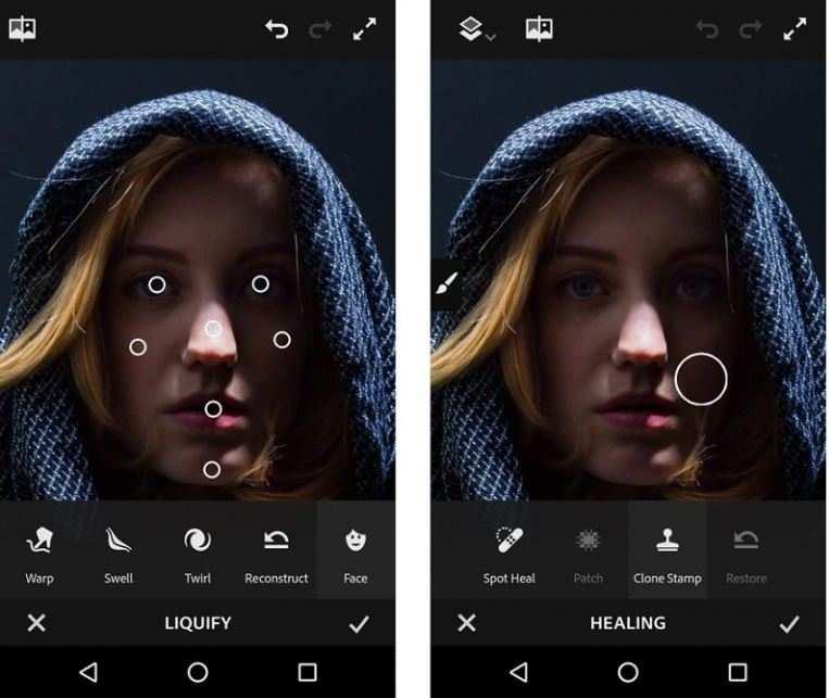 Фотошоп с похудением для андроид