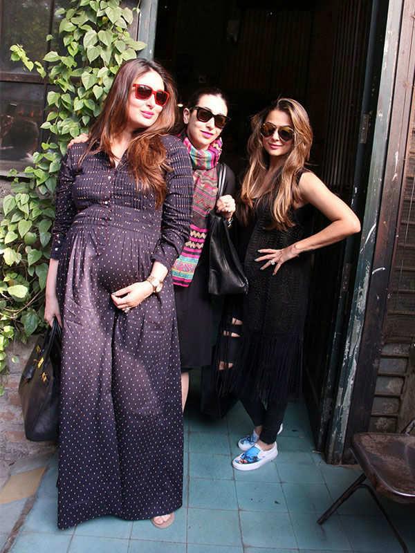 Kareena Kapoor with Karisma Kapoor and Amrita Arora
