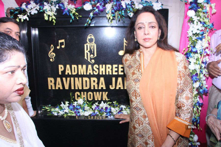Hema Malini inaugurates Ravindra Jain Chowk