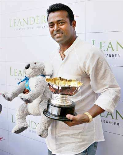 Leandar Paes at Press meet