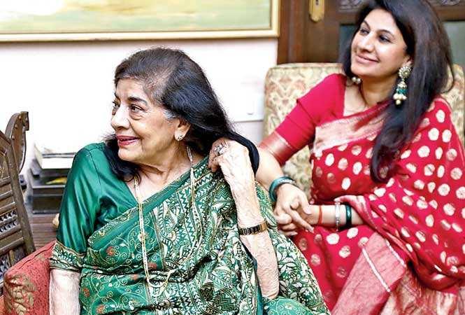Aruna's sister Uma Vasudev with Kamia Malhotra, Uma's daughter(BCCL)